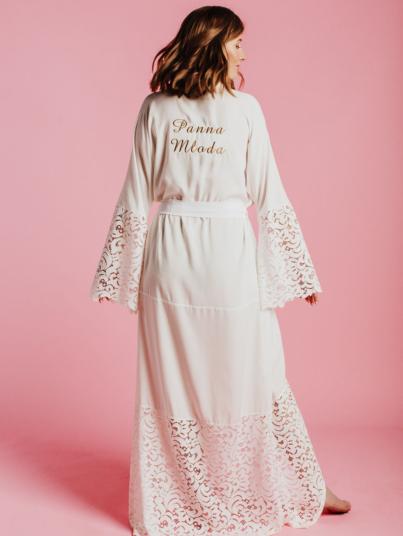 Kolekcja Boho Bride - długi szlafrok